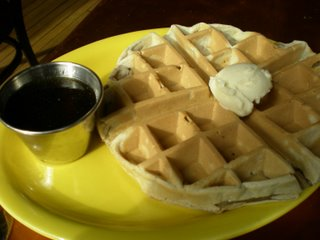 Ja Grill Waffle with Butter Rum Syrup