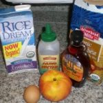 Ingredients for Peach Pancakes