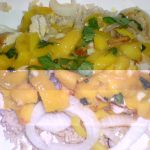Grilled Chicken with Mango Peach Chuntney